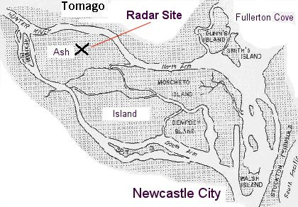 Ash Island Radar Station Near Newcastle Nsw During Ww2