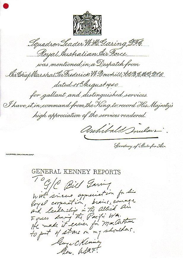 """Group Captain William Henry """"Bull"""" Garing, CBE, DFC"""